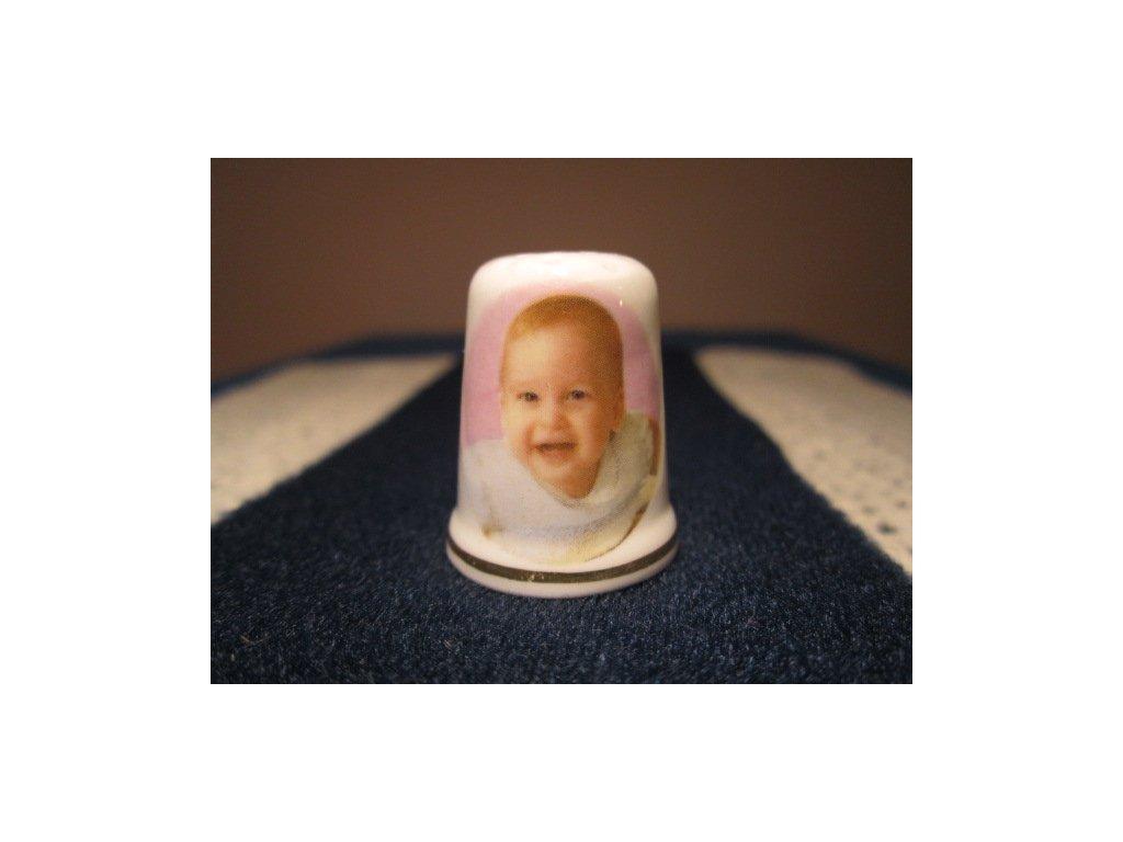 Sběratelský náprstek - Princ William, narození, St. George