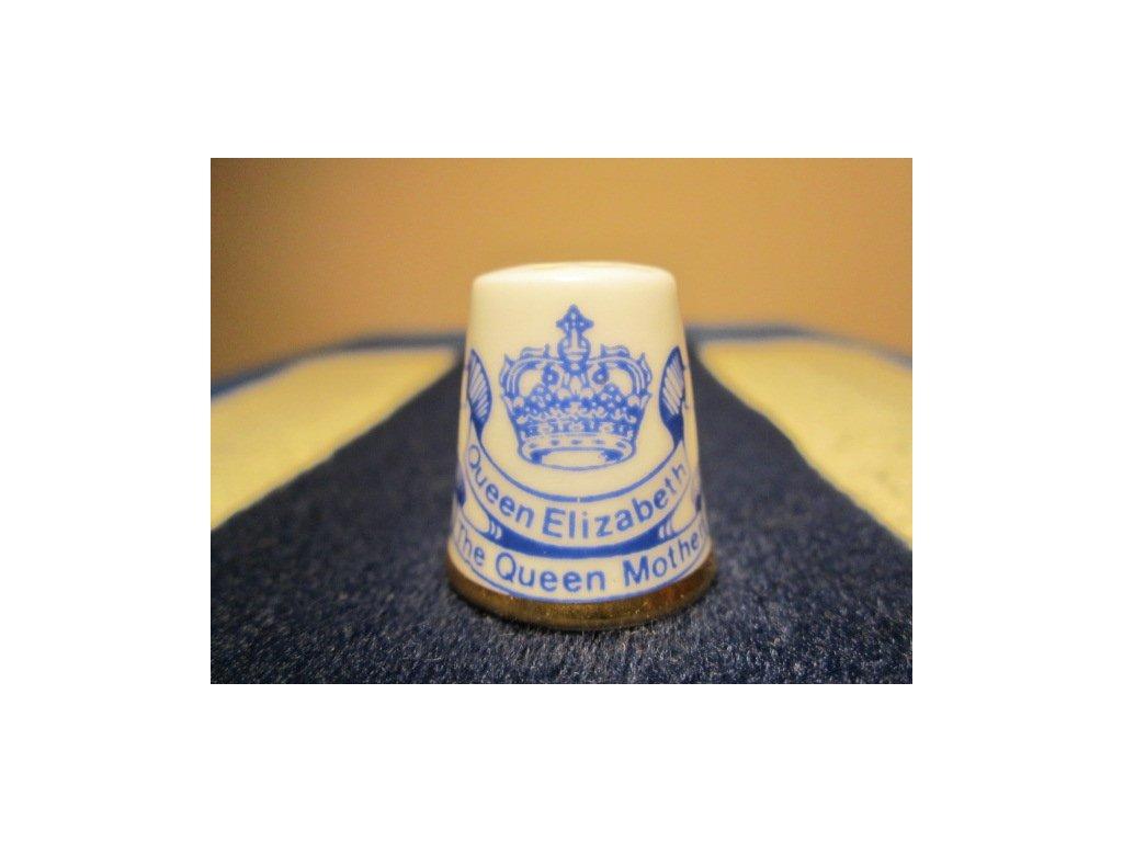 Sběratelský náprstek - Highland Scotland - Královna Alžběta - královna matka, 80. narozeniny 1980