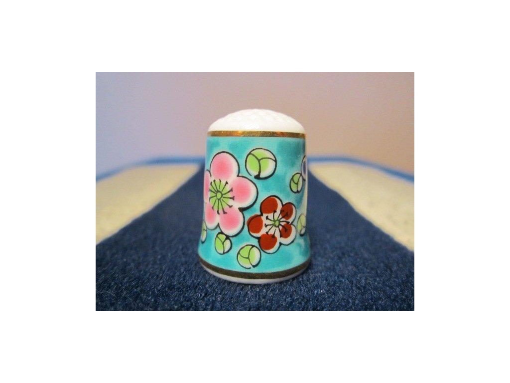 Sběratelský náprstek - TCC Nimura Ceramics Japan - Plum Blossoms