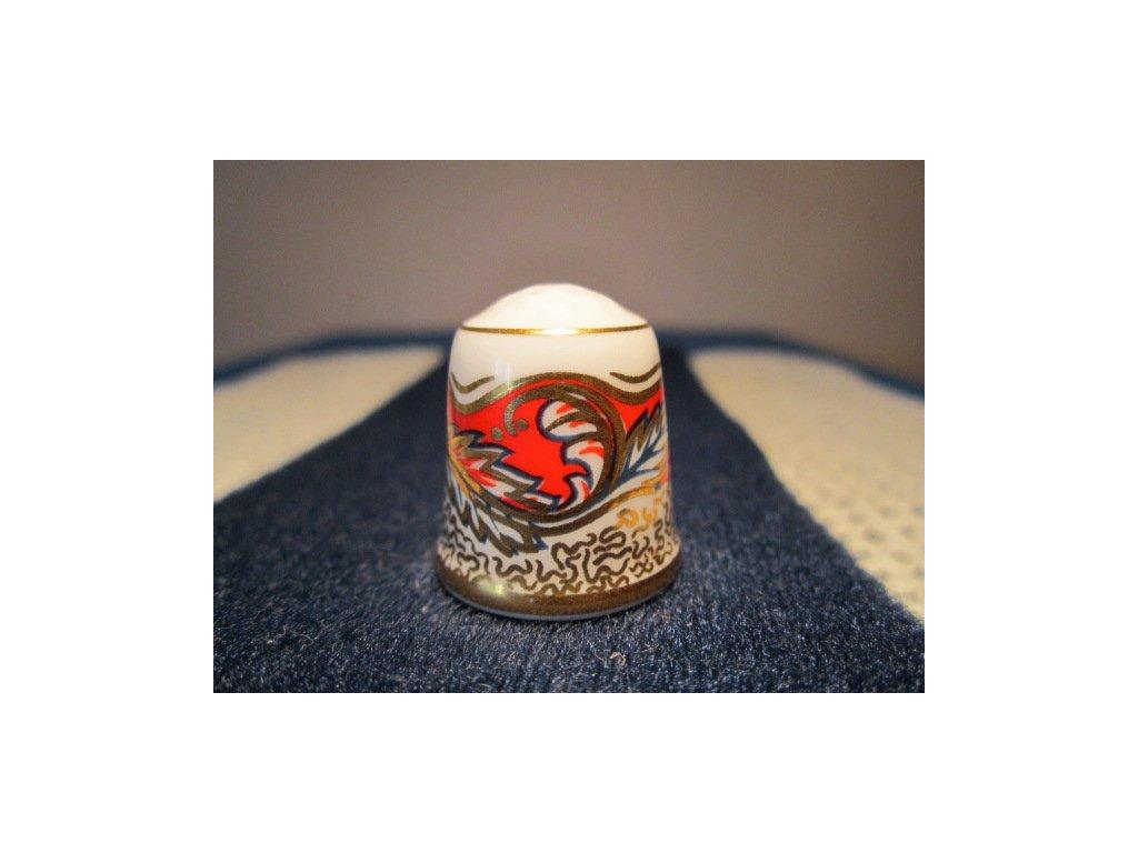 Sběratelský náprstek - TCC Don Pottery England - Gold Imari 1996