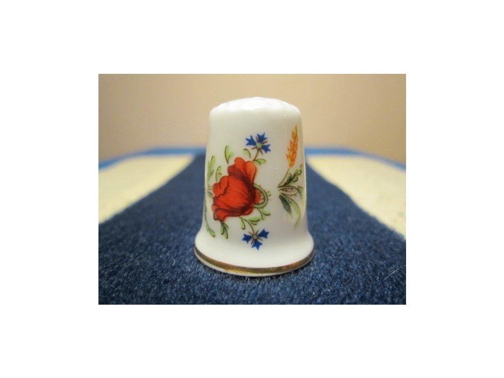 Sběratelský náprstek - Royal Worcester England - Poppy