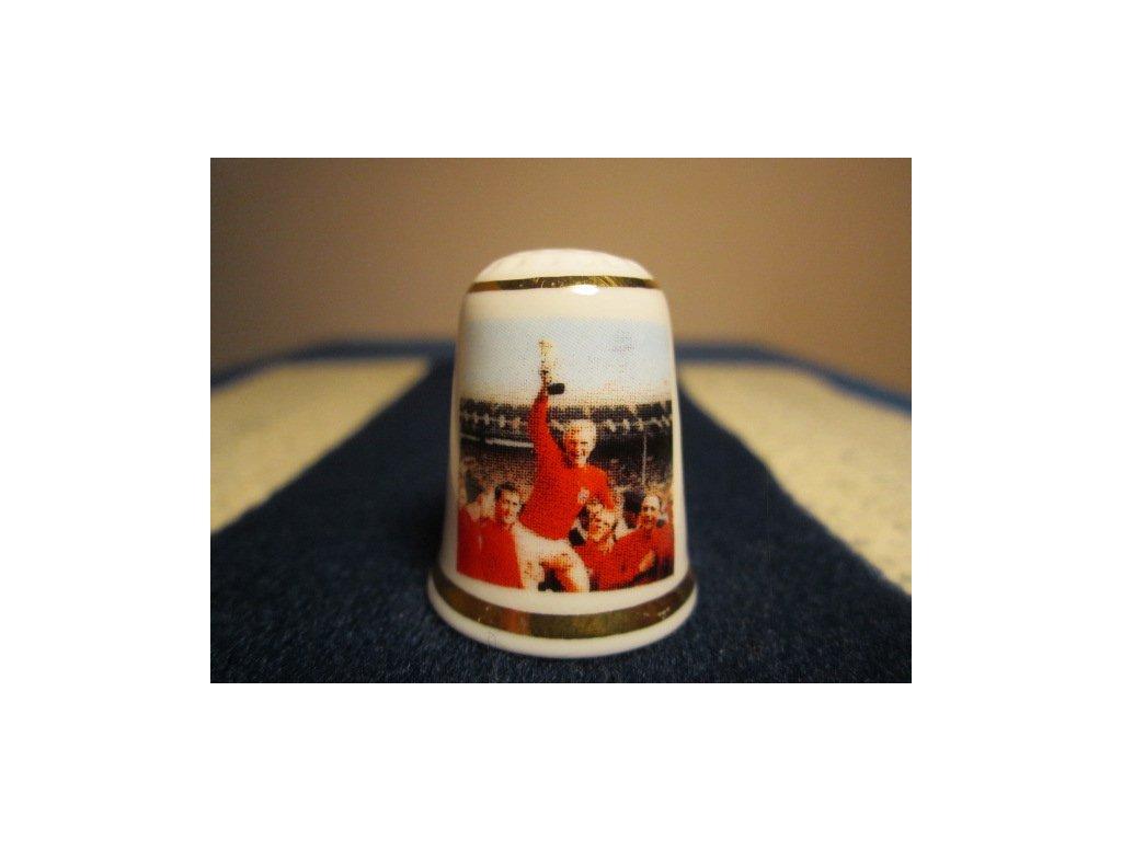 Sběratelský náprstek - TTG Anglie - Mistrovství světa ve fotbale, rok 1966, vítězové - Anglická fotbalová reprezentace
