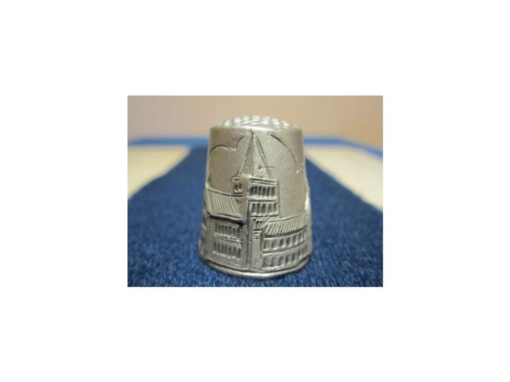 Sběratelský náprstek - 3D cínový - Anglie, Rochester Cathedral, značený