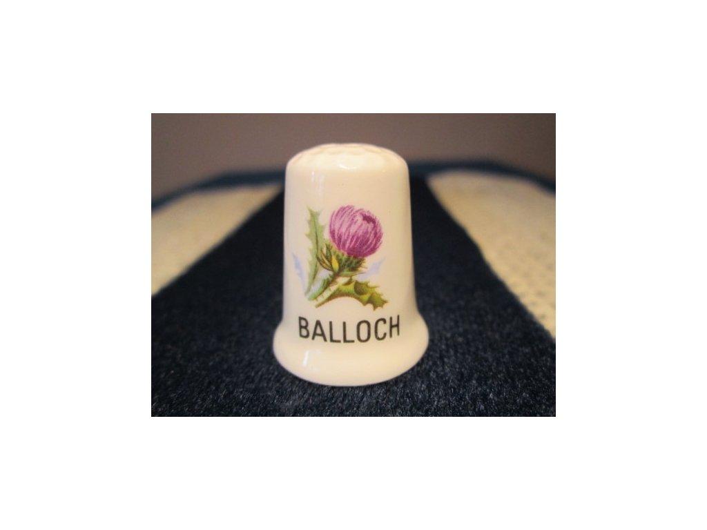 Sběratelský náprstek - Květinová města - Skotsko, Balloch