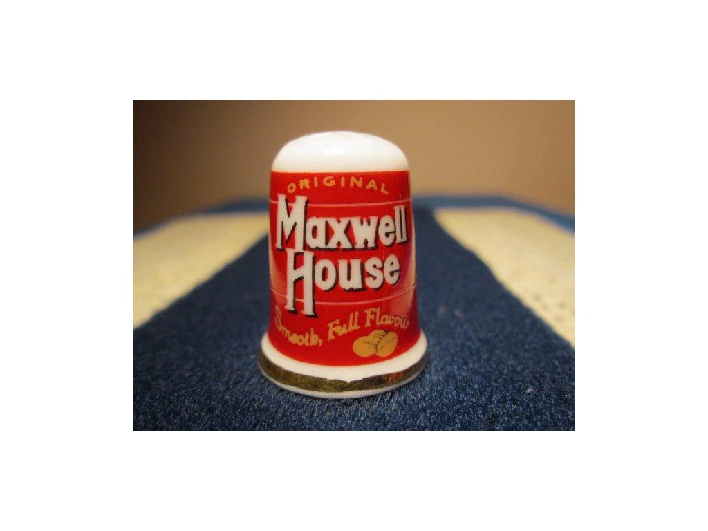 Sběratelský náprstek - Reklama - Maxwell House, americká značka kávy