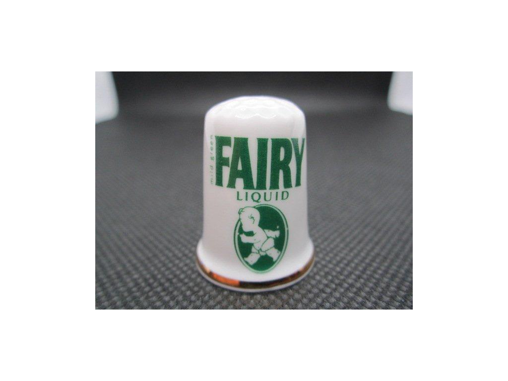 Sběratelský náprstek - Reklama - Fairy Liquid, britský prostředek na mytí nádobí, stará značka