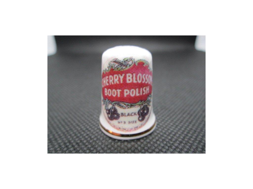 Sběratelský náprstek - Reklama - Cherry Blossom, britský krém na boty 2