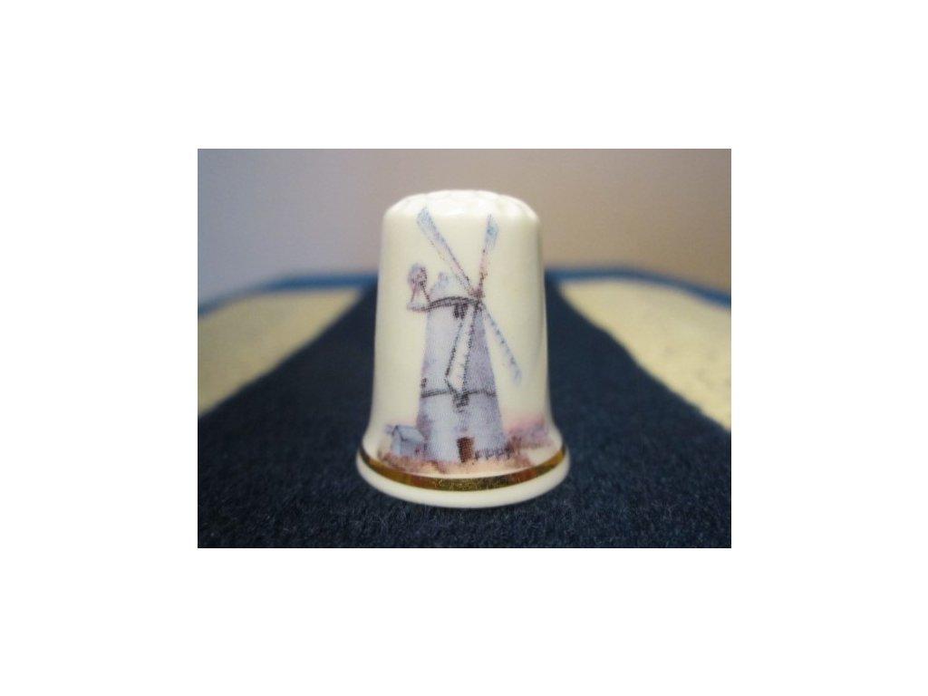 Sběratelský náprstek - Větrný mlýn 2, Cottage Thimbles