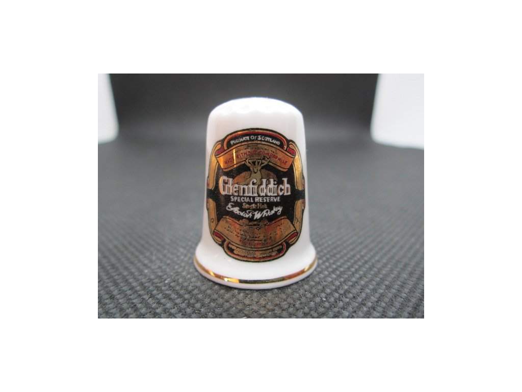 Sběratelský náprstek - Reklama - Glenfiddich Scotch Whisky, skotská whisky