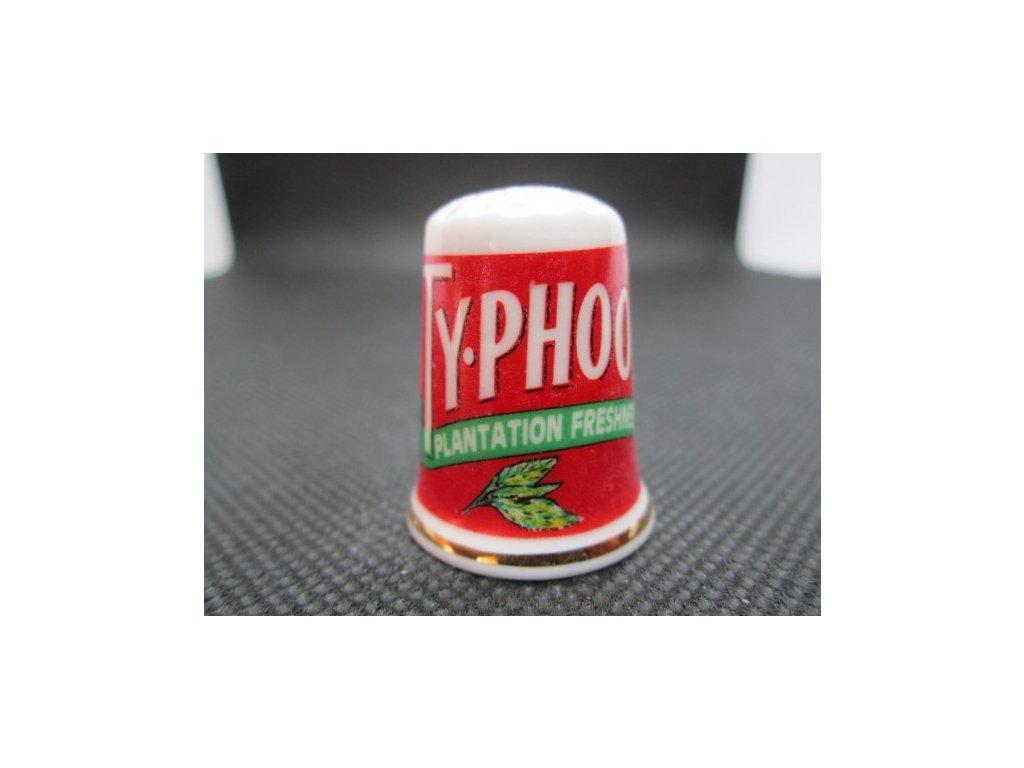 Sběratelský náprstek - Reklama - TyPhoo Plantation Freshness, čaje