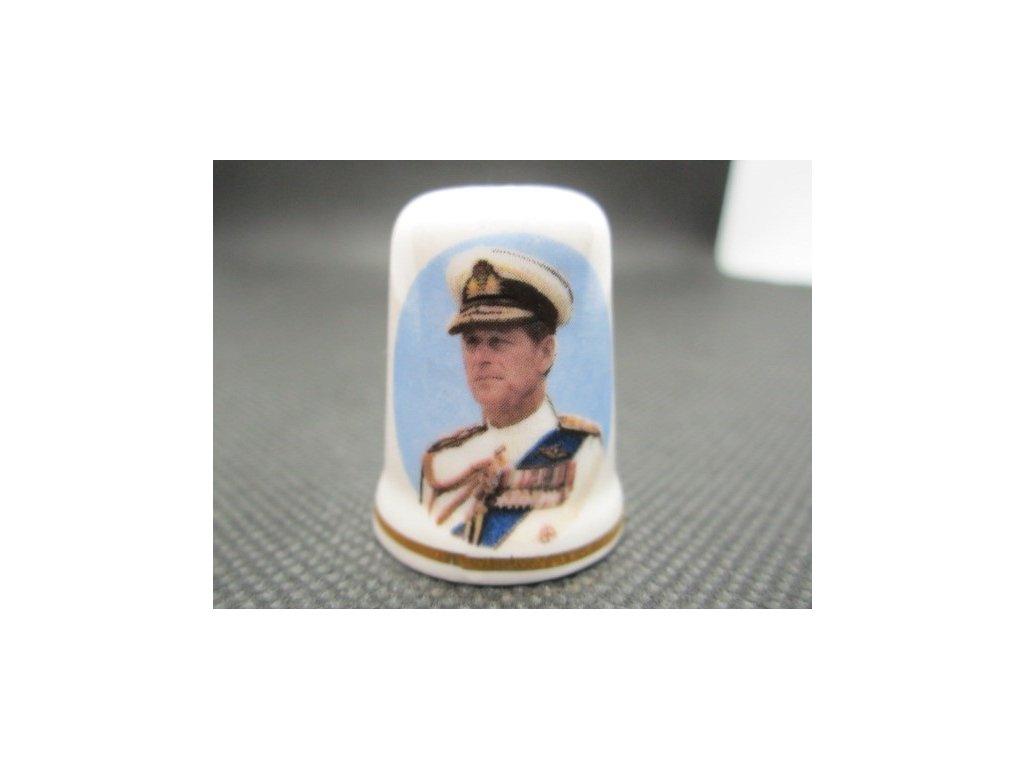 Sběratelský náprstek - Princ Filip v bílé uniformě, St. George England