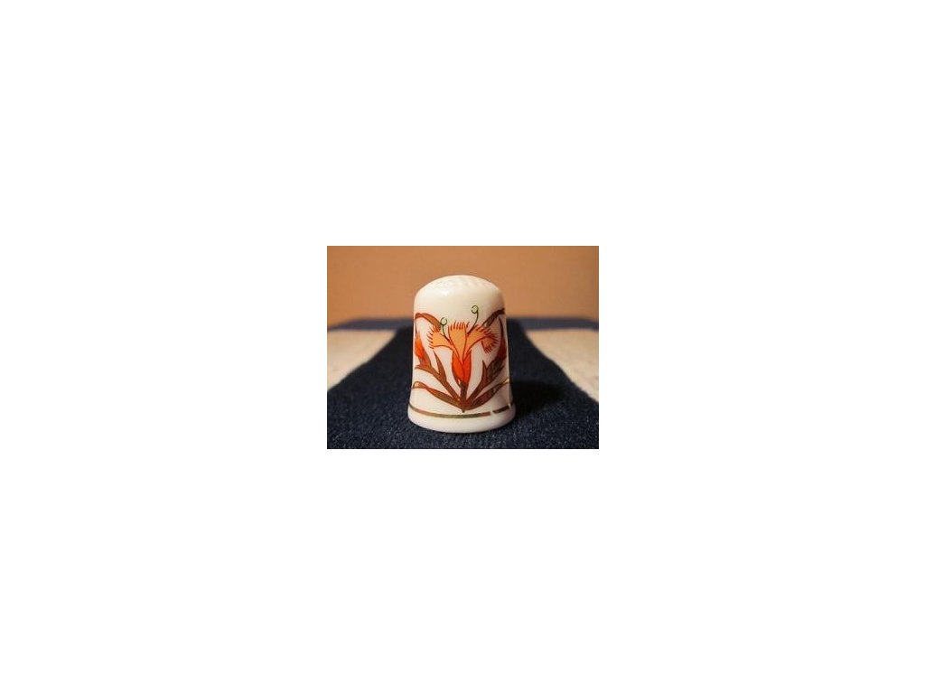 Sběratelský náprstek - TCC Gold Imari  Arita Japan - Bussan 1988
