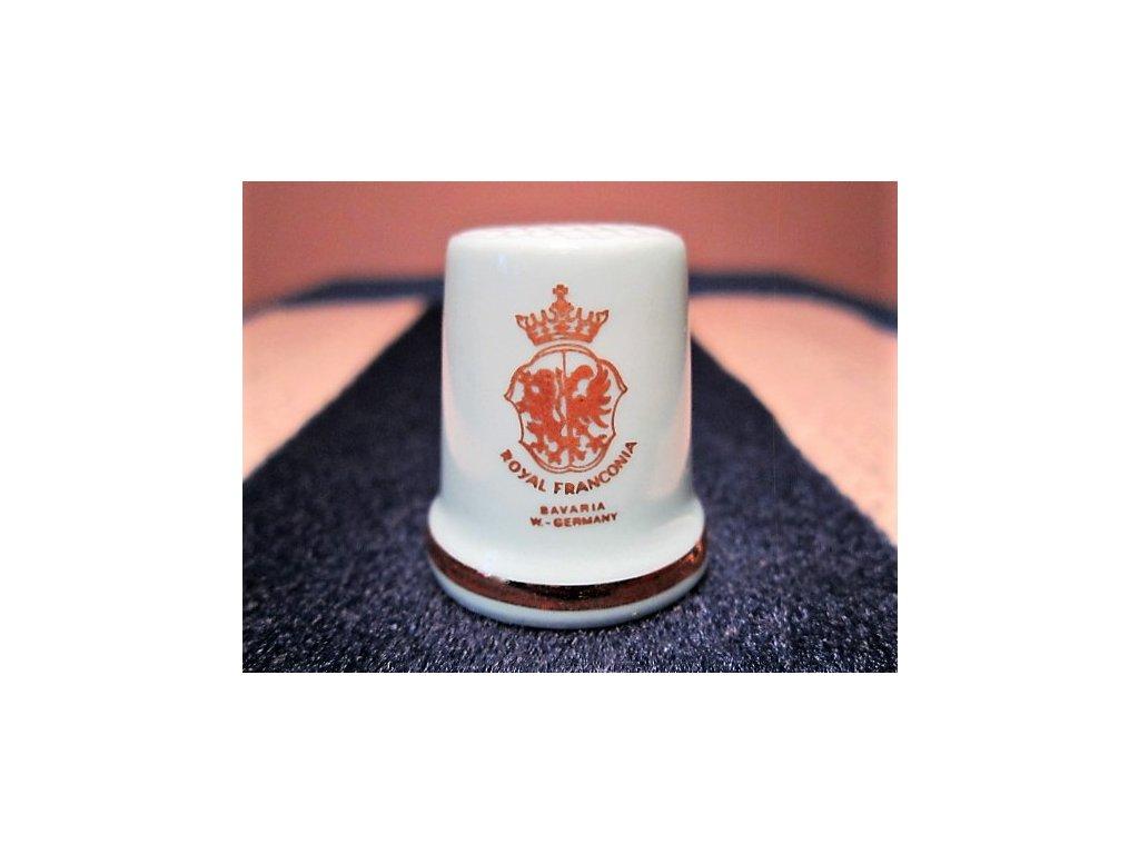 Sběratelský náprstek - TCC Royal Franconia Germany - zn. porcelánky