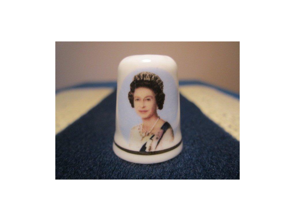 Sběratelský náprstek - Královna Alžběta II. - 60 let, St. George