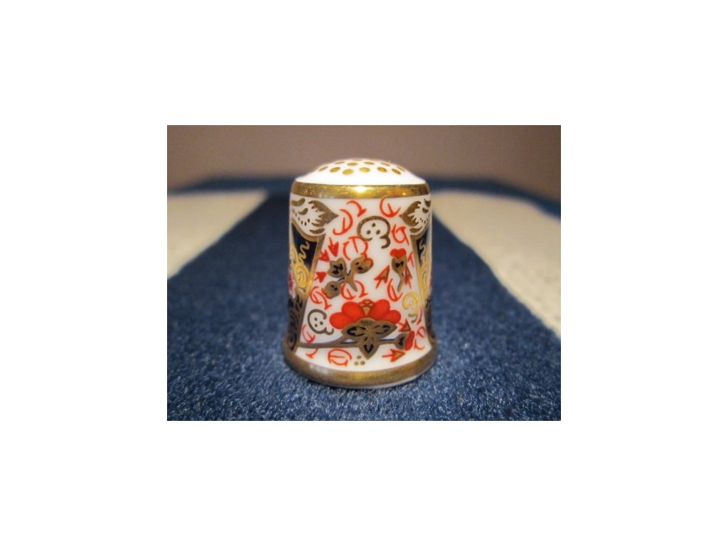 Sběratelský náprstek - Royal Crown Derby England - The Traditional Imari 1889,Historical Collection