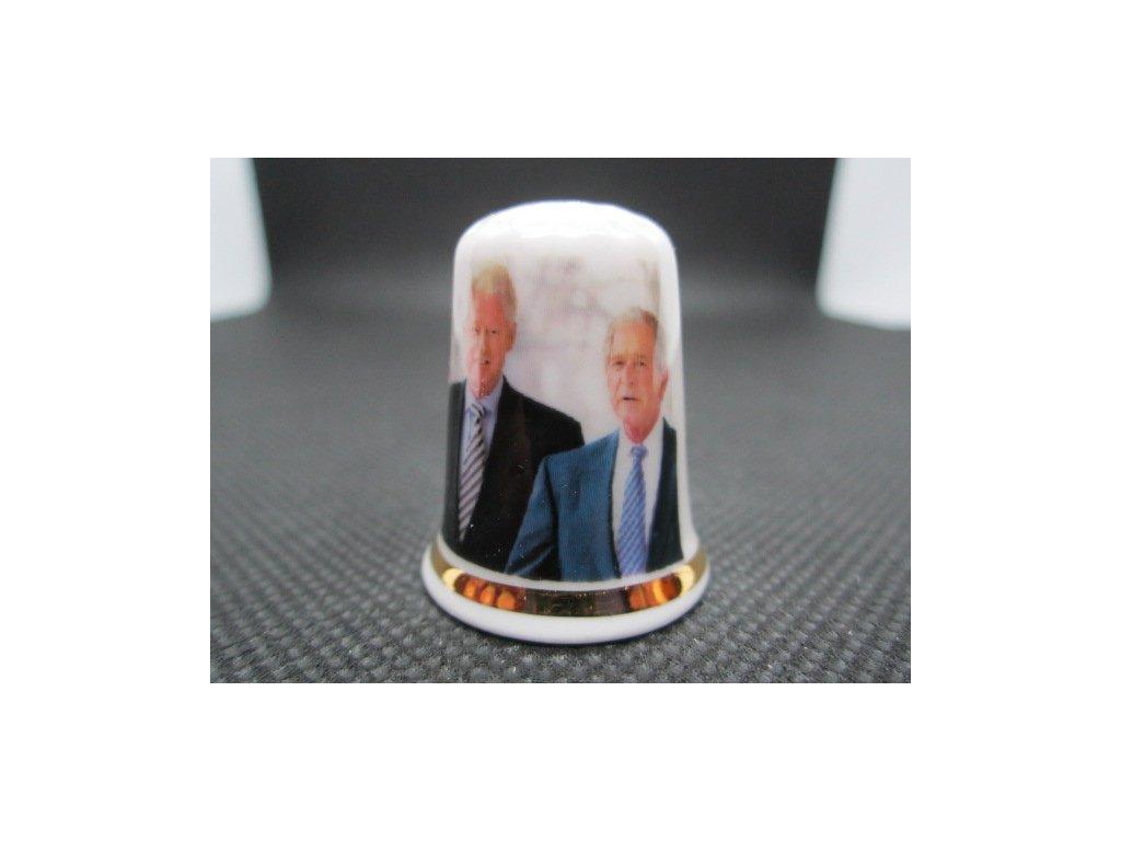 Sběratelský náprstek - Bývalí 3 prezidenti USA při inauguraci 46. USA prezidenta Joe Bidena, 2021