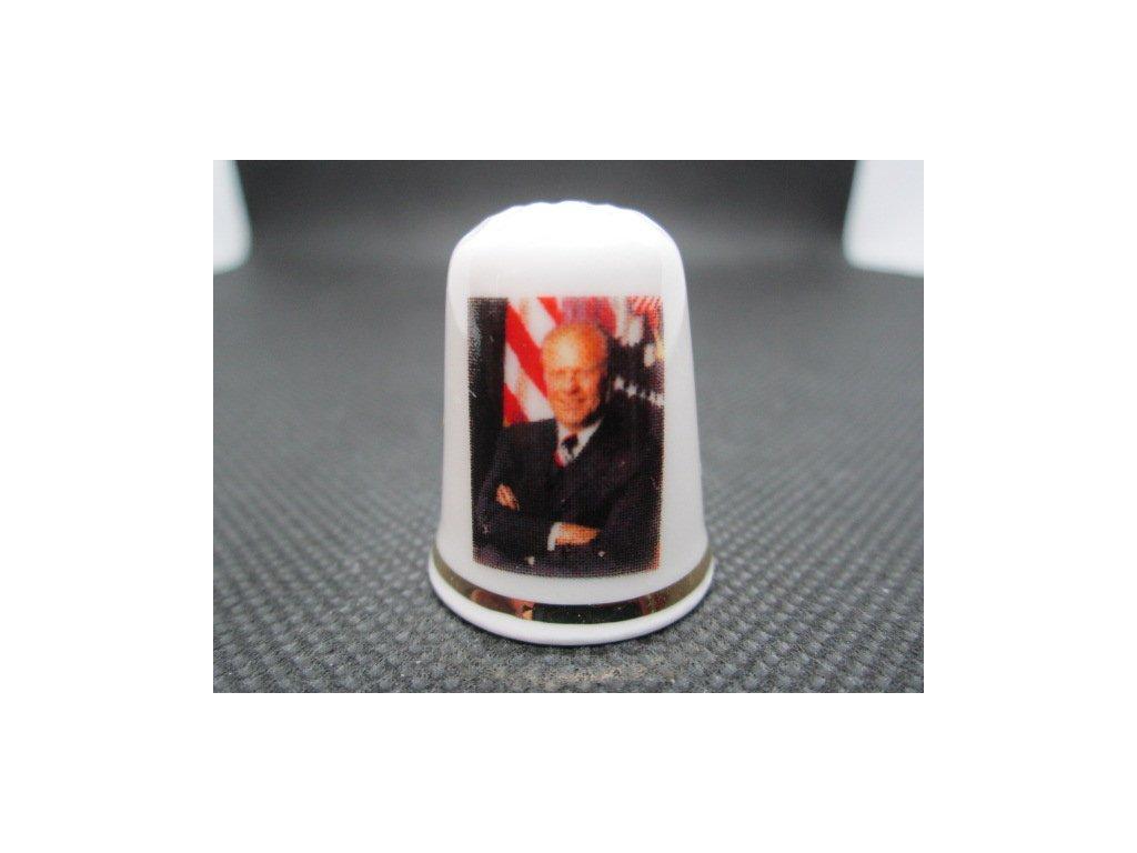 Sběratelský náprstek - TTG USA 38. prezident Gerald Ford, úmrtí