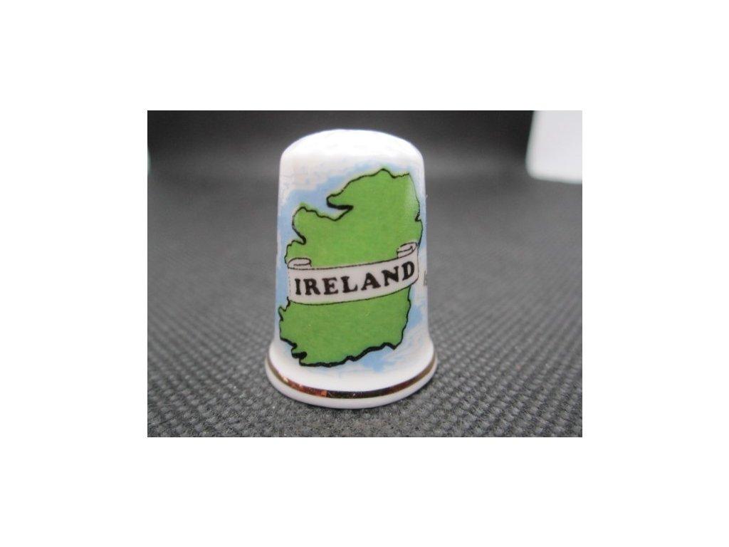 Sběratelský náprstek - Irsko - obrysová mapa