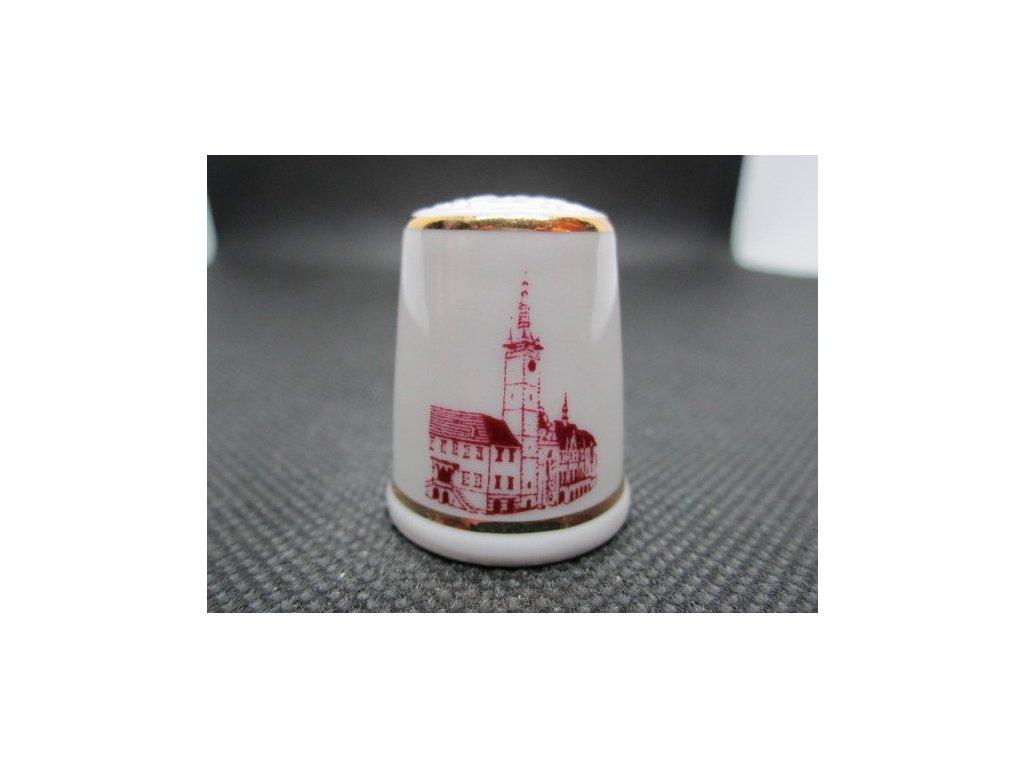 Sběratelský náprstek - Olomouc radnice - Český porcelán Dubí