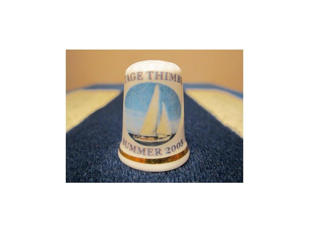 Sběratelský náprstek - Léto 2005 s plachetnicí, Cottage Thimbles