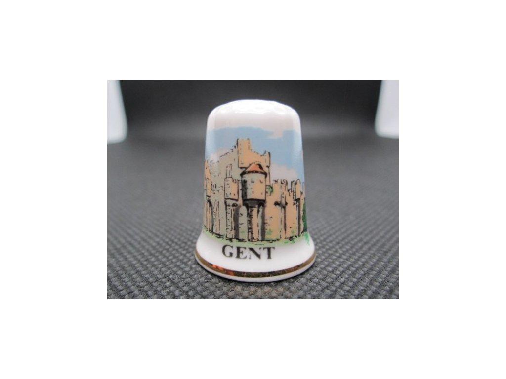 Sběratelský náprstek - Belgie - Gent, hrad Gravensteen