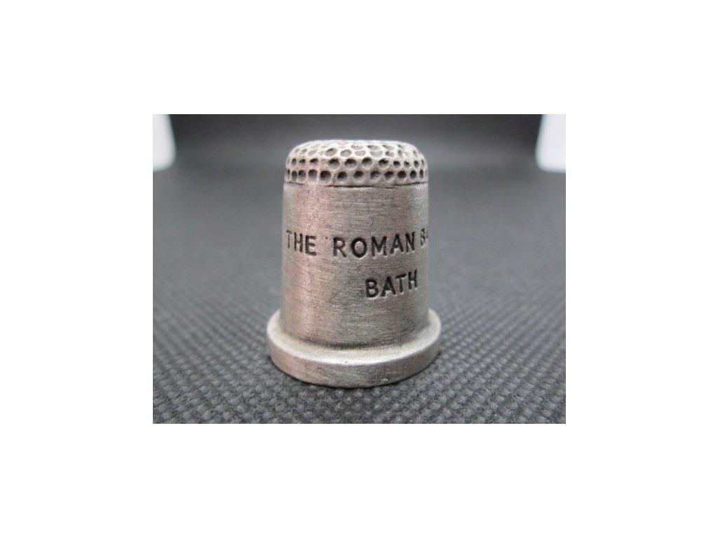 Sběratelský náprstek - 3D cínový - Anglie, The Roman Baths, Bath, římské lázně