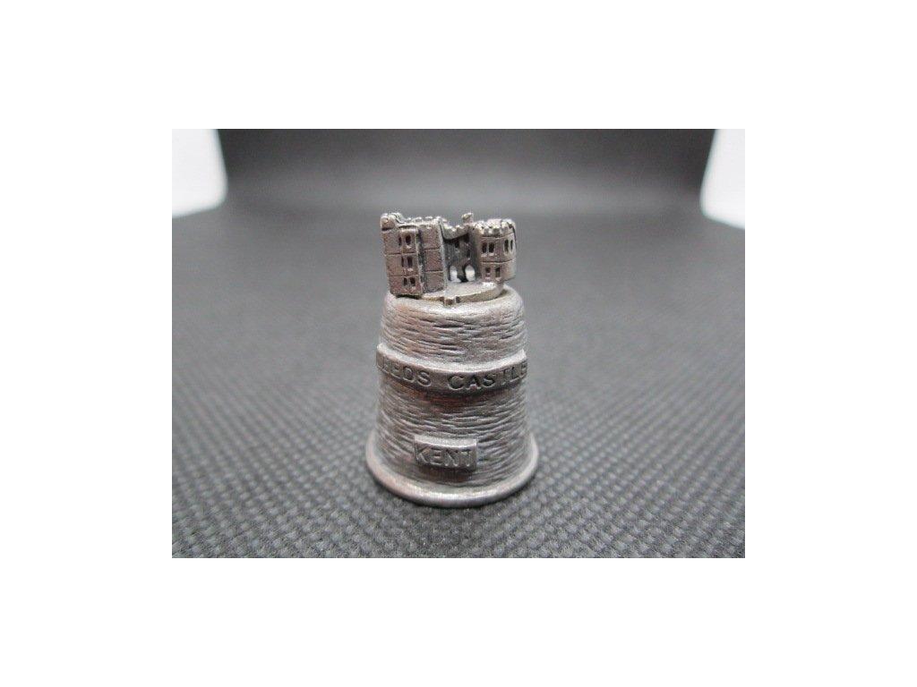 Sběratelský náprstek - 3D cínový - Anglie, Kent, Leeds Castle