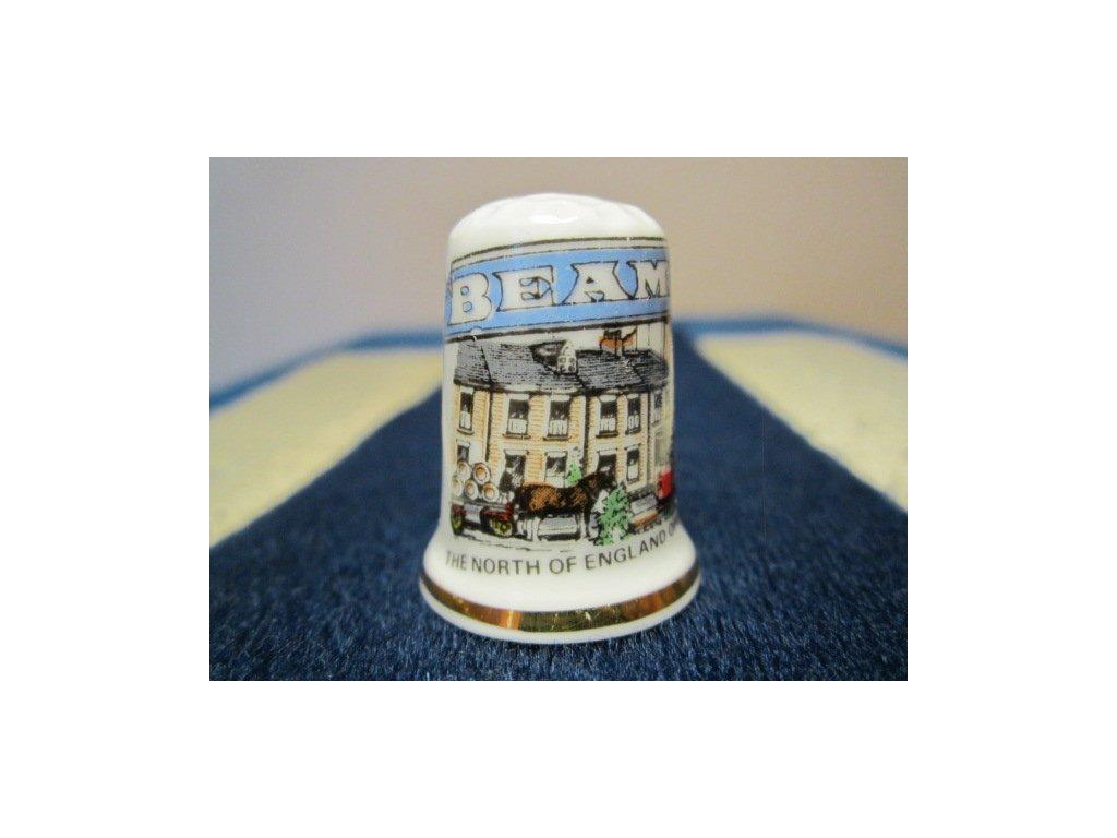 Sběratelský náprstek - Anglie - Beamish, muzeum, s popisem