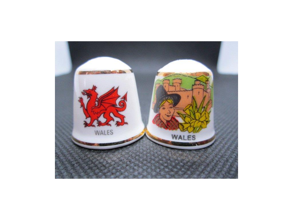 Sběratelský náprstek - Sada 2 ks - Wales, symboly