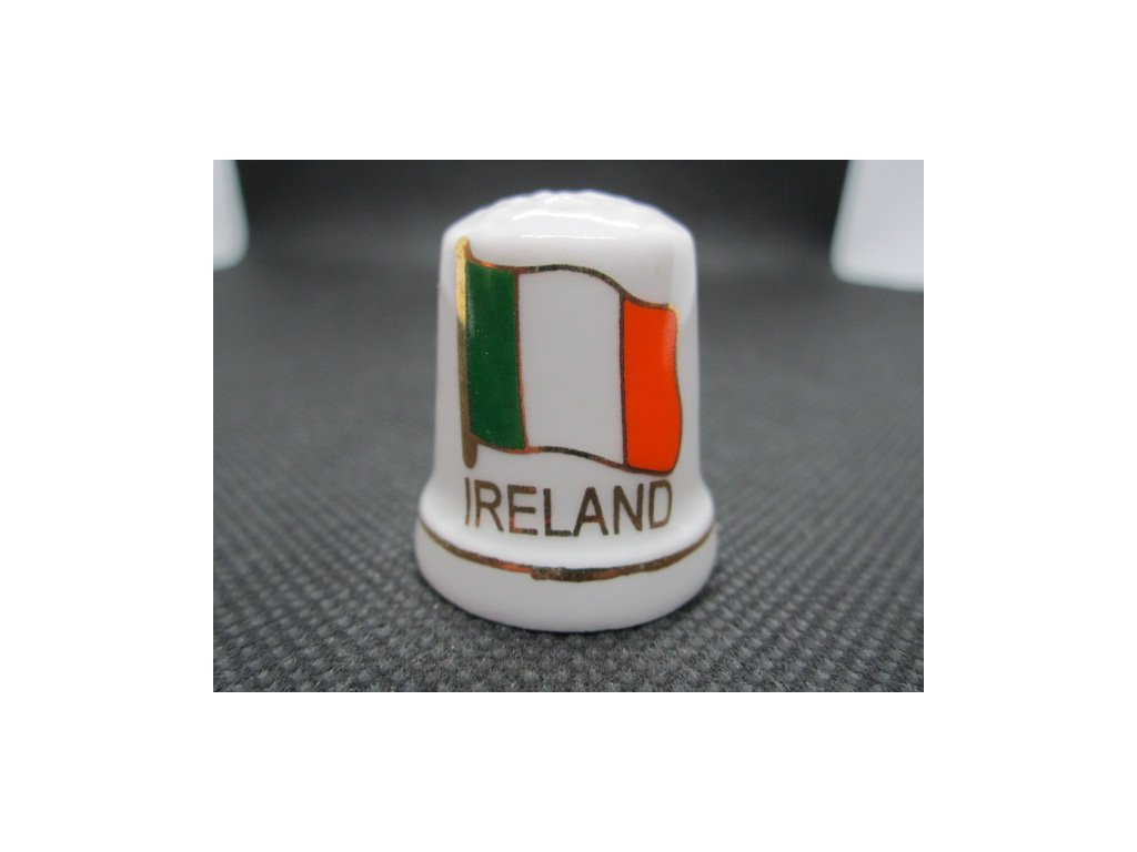 Sběratelský náprstek - Irsko - vlajka