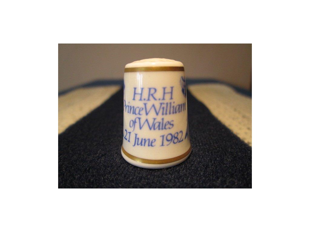 Sběratelský náprstek - Royal Worcester England, Princ William narození