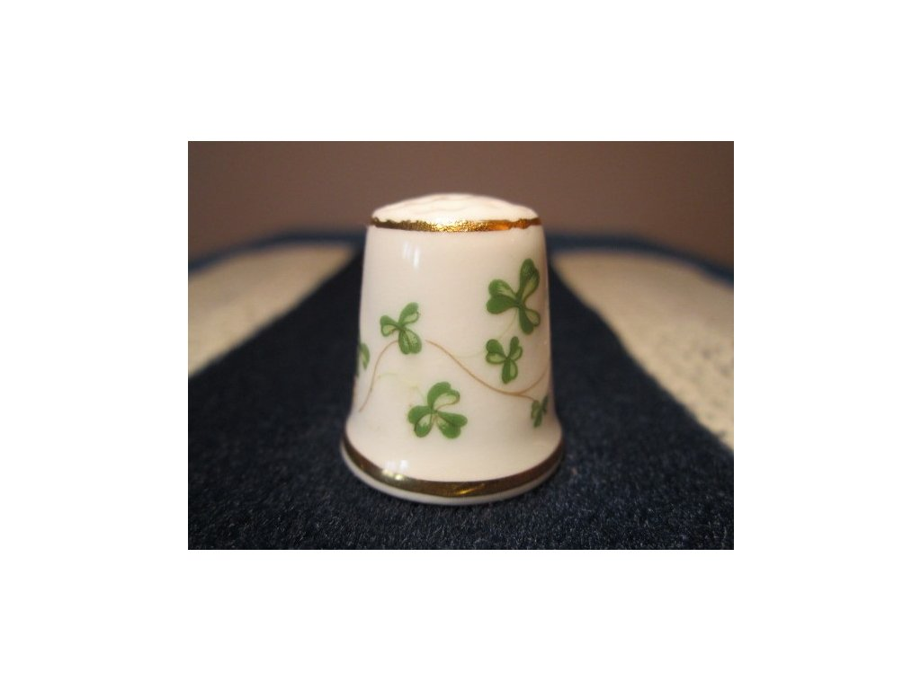 Sběratelský náprstek - WGPH Royal Tara Ireland - shamrocks