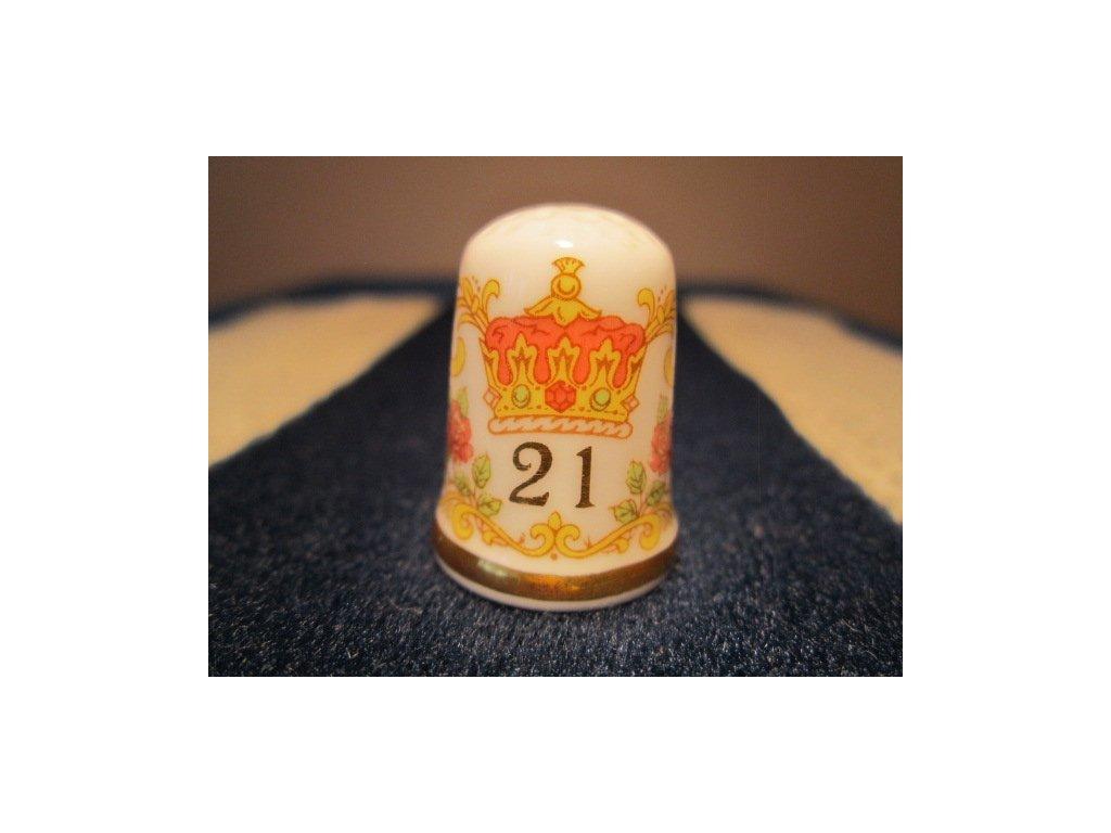 Sběratelský náprstek - Caverswall England - Princezna Diana 21 let