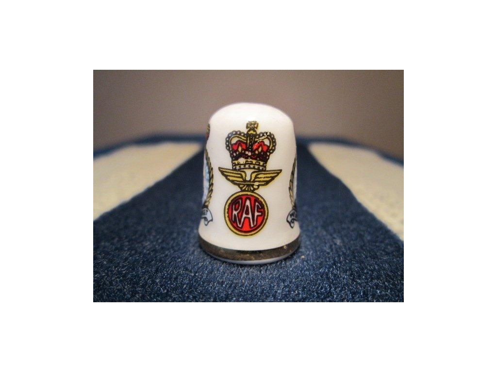 Sběratelský náprstek - Caverswall England - RAF - 50. výročí