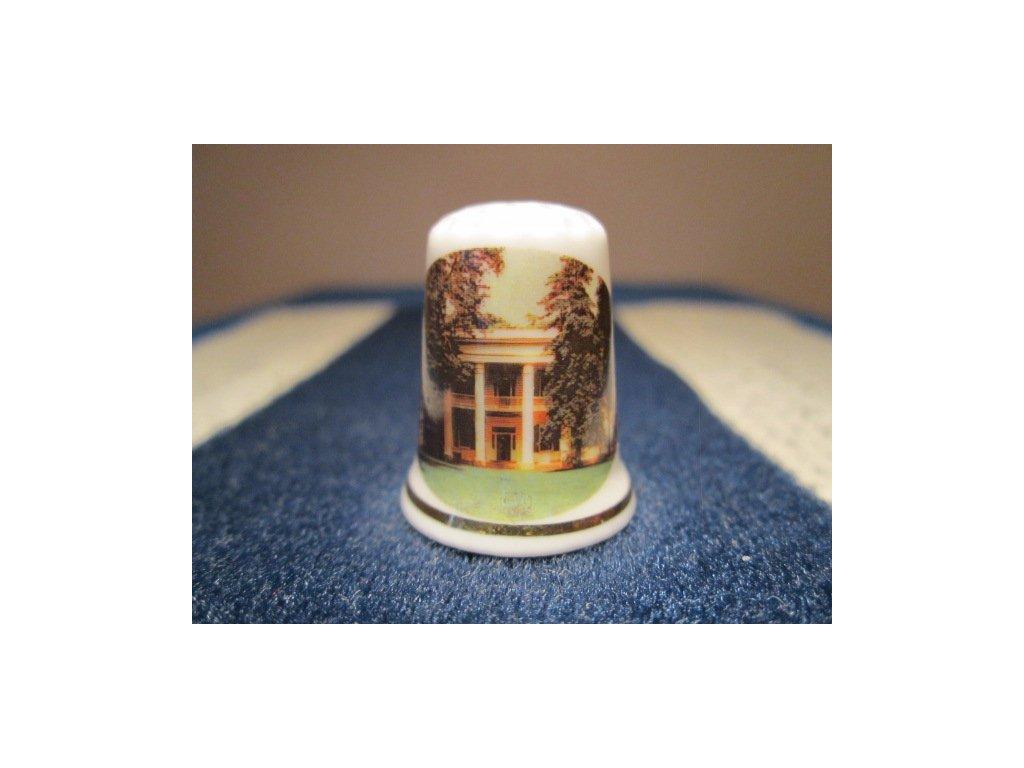 Sběratelský náprstek - USA prezident - Andrew Jackson - sídlo v Nashville, Tennessee