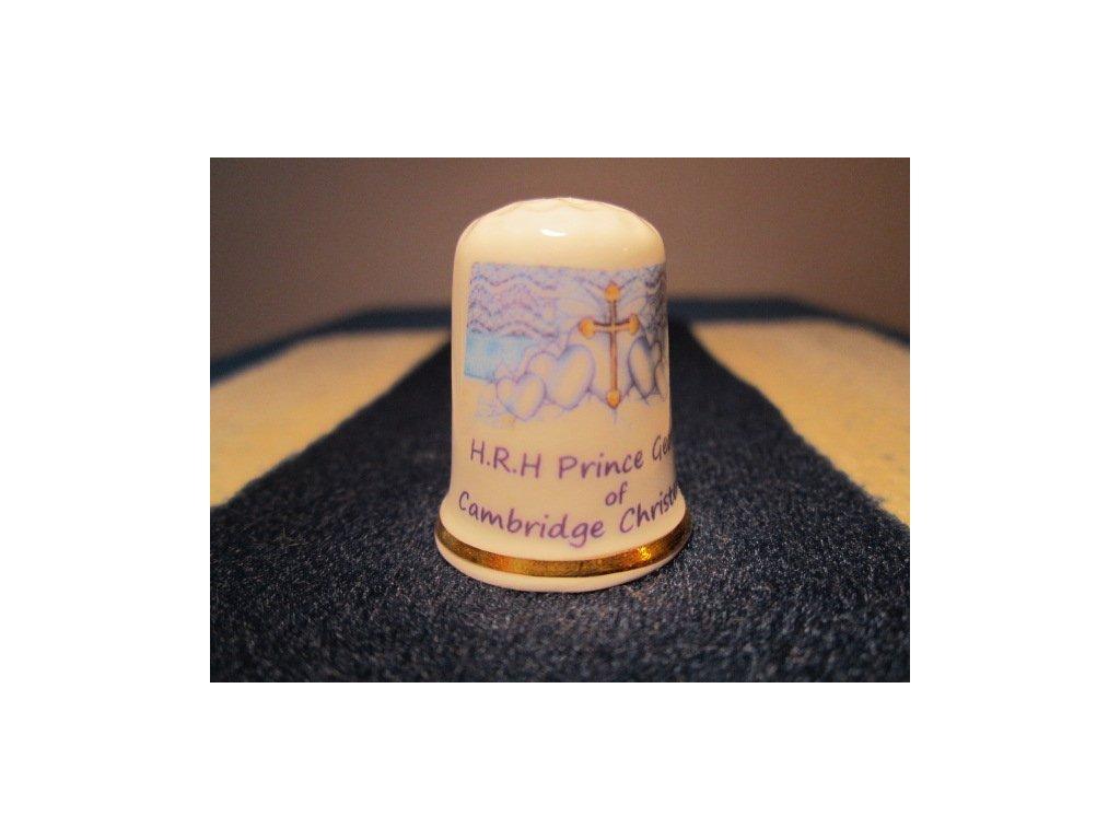 Sběratelský náprstek - Princ George - křtiny, informace