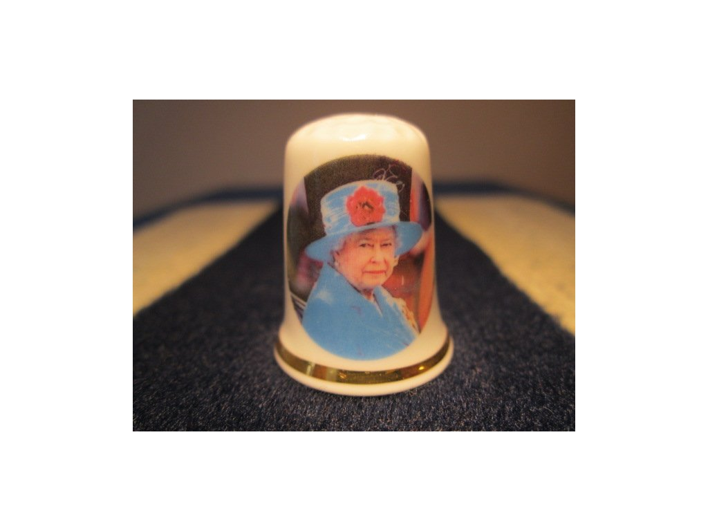 Sběratelský náprstek - Královna Alžběta II. - oficiální 86. narozeniny