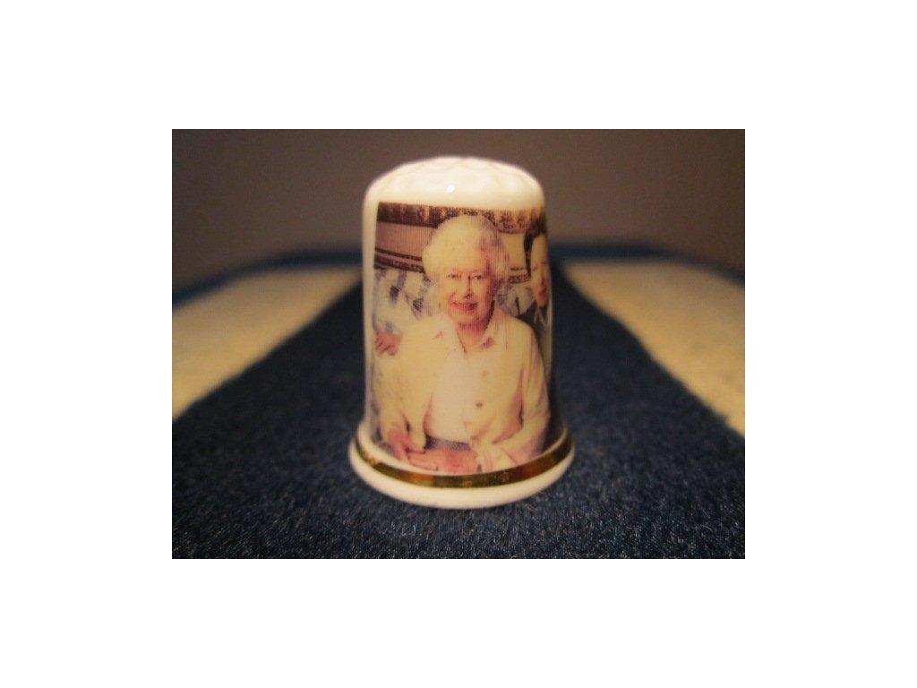 Sběratelský náprstek - Královna Alžběta II. 90 let a Princezna Anna
