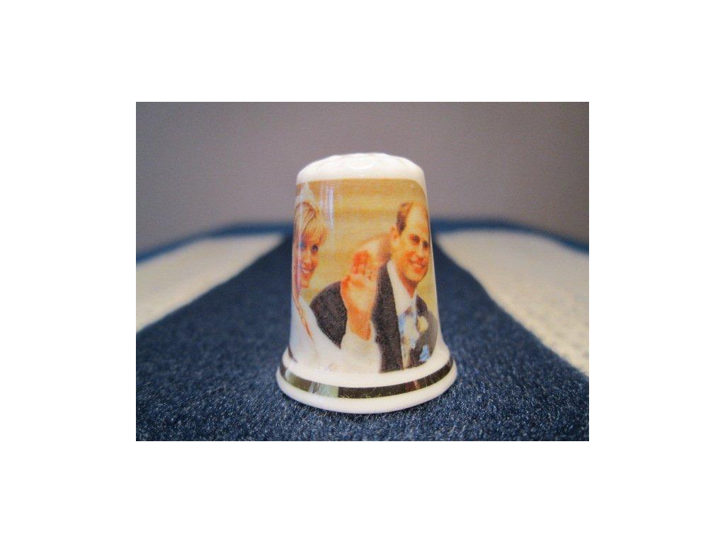 Sběratelský náprstek - Princ Edward a Sophie Rhys-Jones - Královská svatba