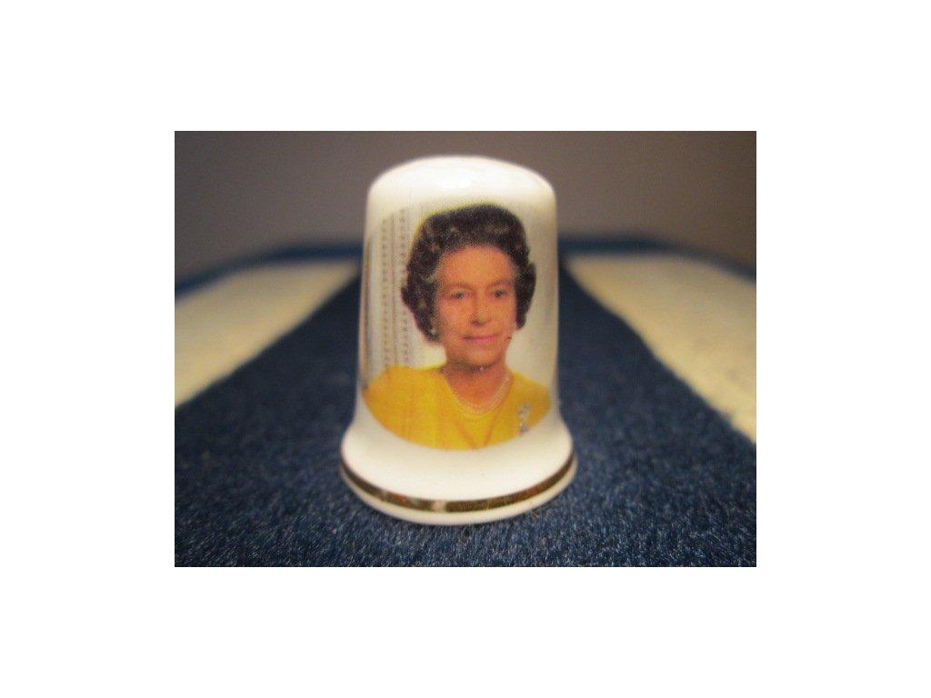 Sběratelský náprstek - Královna Alžběta II. - 60. narozeniny