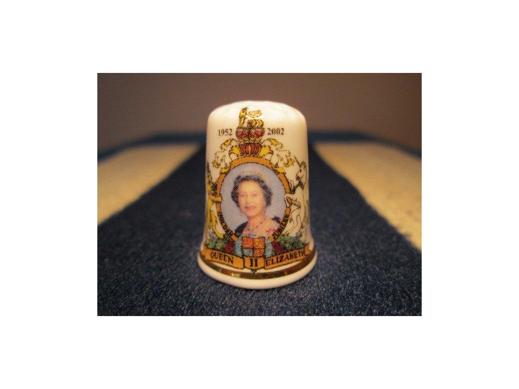 Sběratelský náprstek - Královna Alžběta II. - 50 let vlády 1