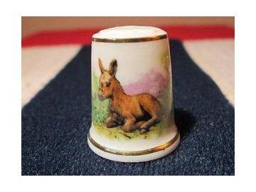 Sběratelský náprstek - TCC Lang Ebrach Germany - Donkeys 1987