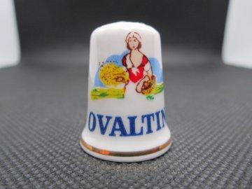 Sběratelský náprstek - TTG Reklama - Ovaltine, sladový mléčný nápoj