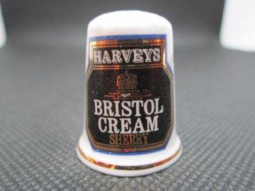 Sběratelský náprstek - Reklama - Harveys Bristol Cream Sherry, anglické obohacené víno sherry
