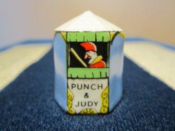 Sběratelský náprstek - 3D ve tvaru stanu - Loutkové divadlo - Punch and Judy
