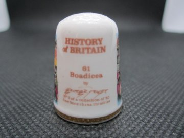 Sběratelský náprstek - TCC Victoria England - Historie Británie, č. 3, Boadicea úmrtí