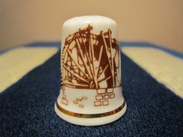 Sběratelský náprstek - Anglie - Killhope Wheel, Muzeum těžby olova