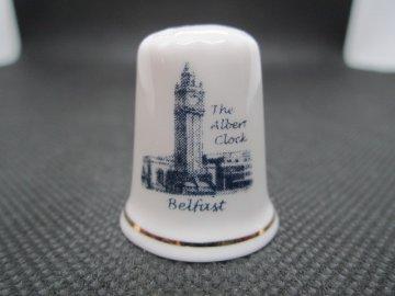 Sběratelský náprstek - Severní Irsko - Belfast, na památku prince Alberta - The Albert Clock (věžní hodiny)