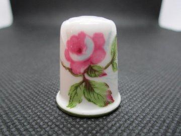 Sběratelský náprstek - WGPH Haviland Limoges France - pink roses
