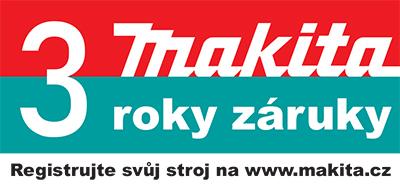 Makita prodloužení záruky na 3 roky